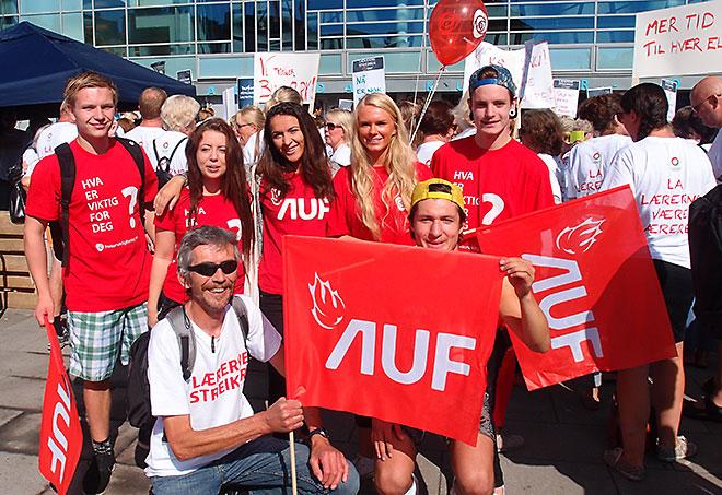 Streikeleder ved Stinta takker AUF'ere for støtten