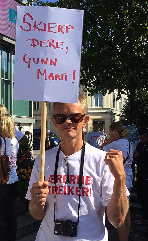 Hold streikemoralen oppe i hverdagsstreiken, oppfordrer artikkelforfatter Lars-Erik Høiskar. oppfordrer alle